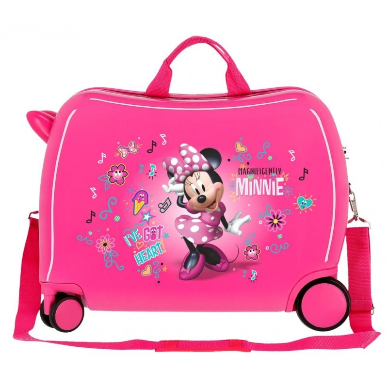Maleta correpasillos Minnie Stickers 2 ruedas multidireccionales