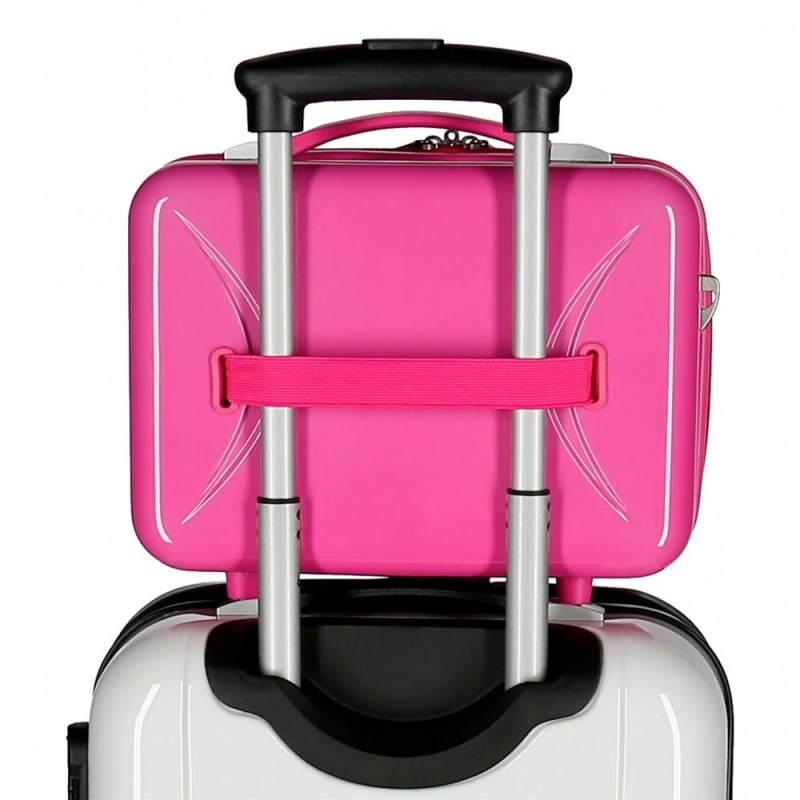 Neceser adaptable a trolley Cenicienta fucsia