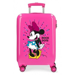 Maleta de cabina Minnie Rock Dots Fucsia + Regalo
