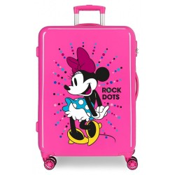 Maleta infantil Minnie Rock Dots Fucsia mediana + Regalo