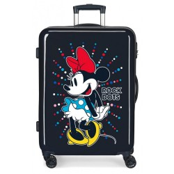 Maleta infantil Minnie Rock Dots Azul mediana + Regalo