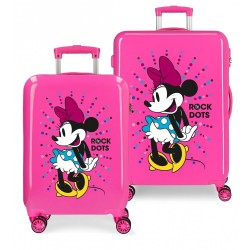 Maletas infantiles Minnie Rock Dots Fucsia + Regalo