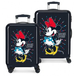 Maletas infantiles Minnie Rock Dots Azul + Regalo