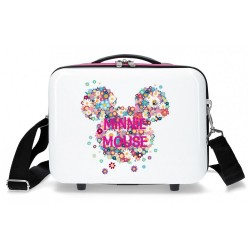 Neceser ABS Minnie Sunny Day Flores Fucsia