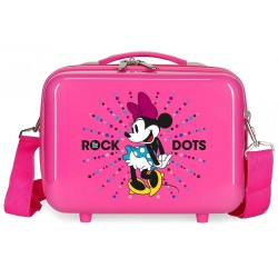 Neceser infantil Minnie Rock Dots Fucsia