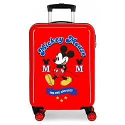 Maleta de cabina Mickey rígida 55cm The One roja