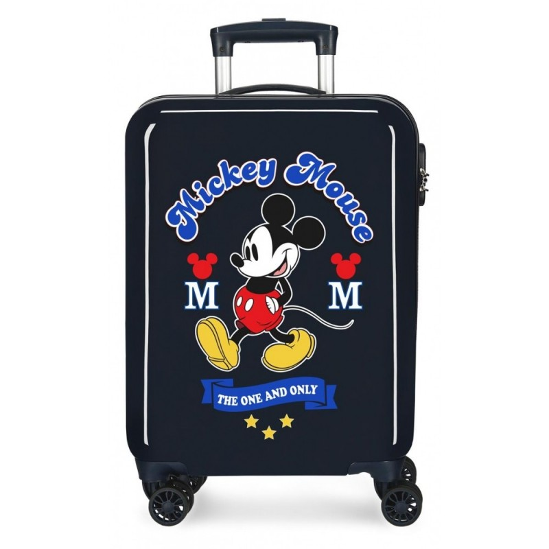 Maleta de cabina Mickey rígida 55cm The One azul