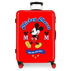 Maleta infantil Mickey The one en roja Mediana + Regalo