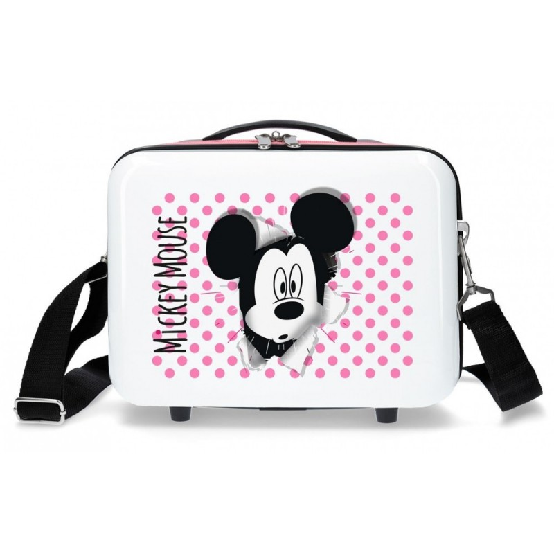 Neceser ABS Mickey Mouse Adaptable Rosa