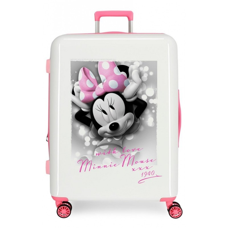 Maleta mediana Minnie Style with love rígida 70cm