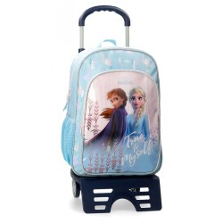 Mochila Frozen True to Myself 40cm con carro