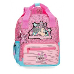 Mochila Minnie Pink Vibes 28cm adaptable