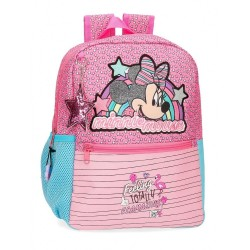 Mochila Minnie Pink Vibes 32cm adaptable a carro