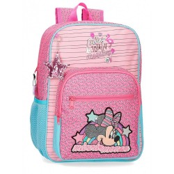 Mochila Minnie Pink Vibes 38cm adaptable a carro