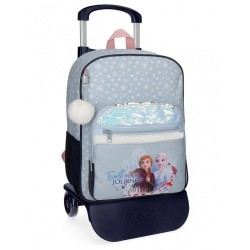 Mochila Trust your journey escolar 38cm con carro