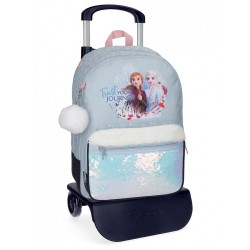 Mochila Escolar Trust your journey 42cm con carro