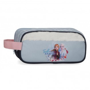 Estuche Frozen Trust your journey Triple Cremallera