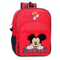 Mochila Happy Mickey 38cm adaptable a carro