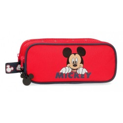 Estuche Happy Mickey dos compartimentos