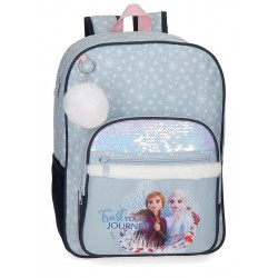 Mochila Frozen Trust your journey escolar 38cm adaptable