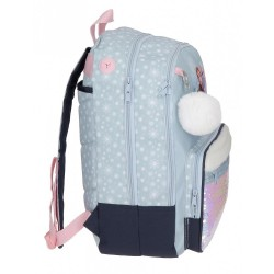 Mochila Escolar Trust your journey 42cm adaptable a carro