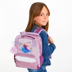 Mochila Frozen Destiny Awaits Preescolar 28cm adaptable a carro