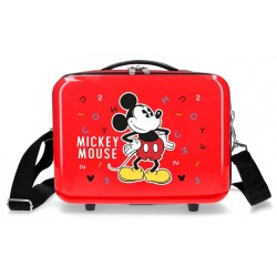 Neceser ABS Mickey Adaptable Letras roja