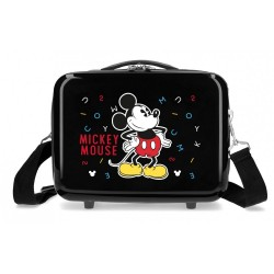 Neceser ABS Mickey Adaptable Letras negra