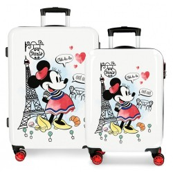 Juego de Maletas Minnie Around the World Paris rígidas 55-68cm
