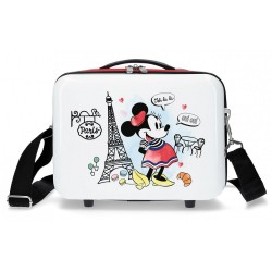 Neceser ABS Minnie Paris Adaptable Rojo