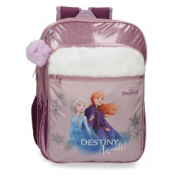 Mochila Escolar Frozen Destiny Awaits 42cm adaptable a carro