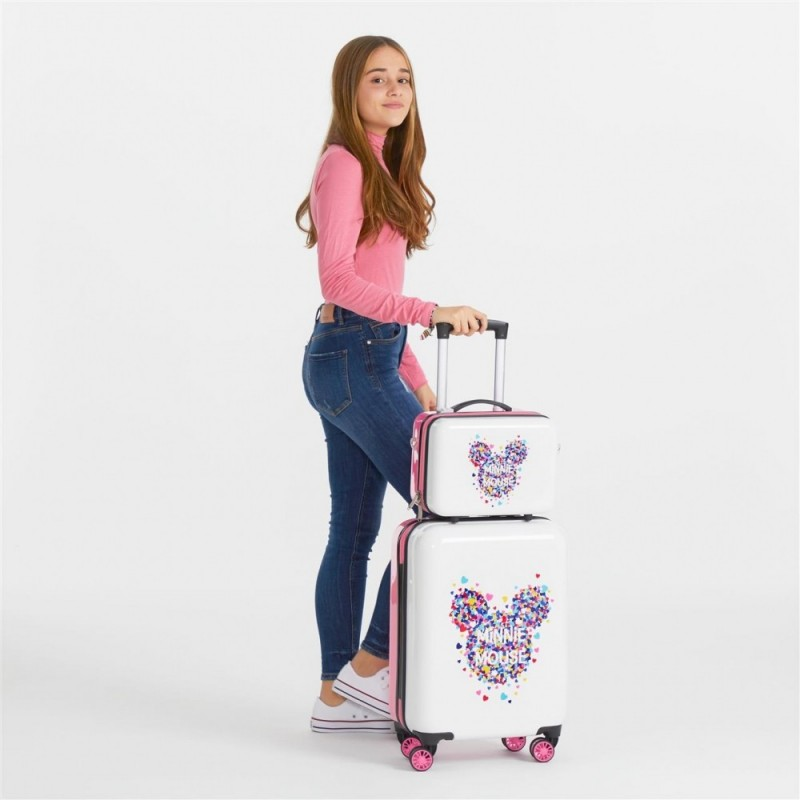 Neceser ABS Minnie Magic corazones adaptable a trolley