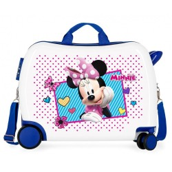 Maleta infantil 2 ruedas multidireccionales Minnie Joy Azul