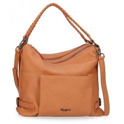 Bolso Hobo Pepe Jeans Braid Marrón