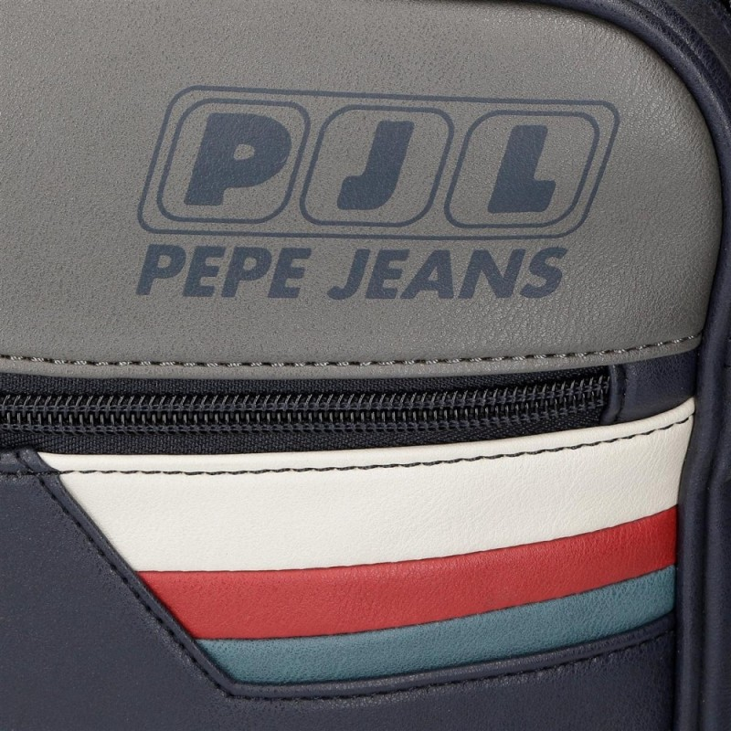 Neceser Pepe Jeans Eighties Doble Compartimento Adaptable