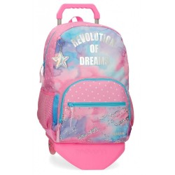 Mochila Escolar Movom Revolution Dreams con Carro