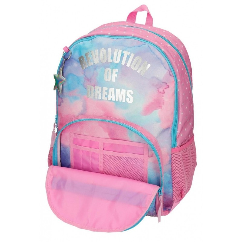 Mochila Escolar Movom Revolution Dreams Dos Compartimentos Adaptable