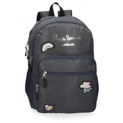 Mochila Escolar Pepe Jeans Emi Doble Compartimento Adaptable