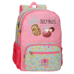 Mochila Enso Juicy Fruits Doble Compartimento Adaptable