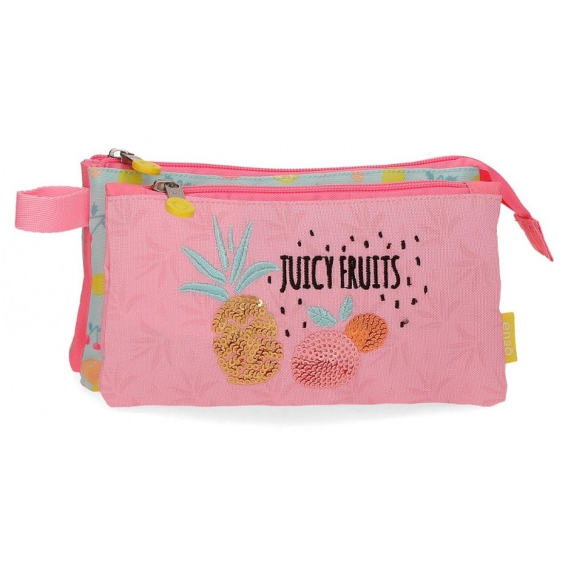 Estuche Enso Juicy Fruits Tres Compartimentos