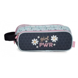Estuche Enso Girl Power Triple Cremallera