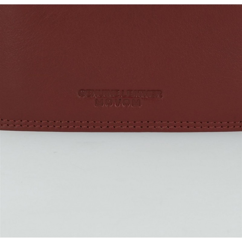 Cartera Movom Ribbon vertical con monedero Marrón