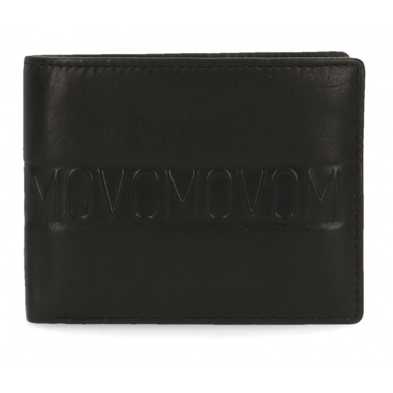 Cartera Movom Ribbon horizontal con monedero Negra
