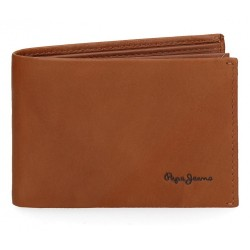 Cartera Pepe Jeans Fair horizontal con monedero camel