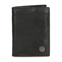 Cartera Pepe Jeans Button vertical con monedero Negra