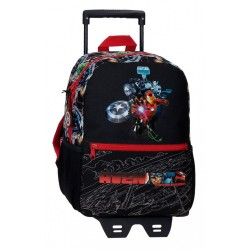 Mochila 32cm Avengers Armour Up con Carro