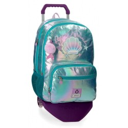Mochila Enso Be a Mermaid Doble Compartimento con Carro