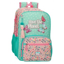 Mochila Movom Save the Planet Doble Compartimento