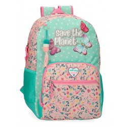 Mochila Escolar Movom Save the Planet Adaptable