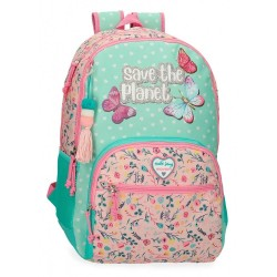 Mochila Escolar Movom Save the Planet Dos Compartimentos